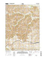 Menlo Iowa Current topographic map, 1:24000 scale, 7.5 X 7.5 Minute, Year 2015 from Iowa Map Store
