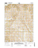 Miles Iowa Current topographic map, 1:24000 scale, 7.5 X 7.5 Minute, Year 2015 from Iowa Map Store
