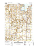 Milford Iowa Current topographic map, 1:24000 scale, 7.5 X 7.5 Minute, Year 2015 from Iowa Map Store