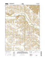 Milton Iowa Current topographic map, 1:24000 scale, 7.5 X 7.5 Minute, Year 2015 from Iowa Map Store