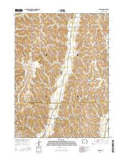 Mineola Iowa Current topographic map, 1:24000 scale, 7.5 X 7.5 Minute, Year 2015 from Iowa Maps Store