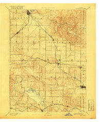 Monticello Iowa Historical topographic map, 1:62500 scale, 15 X 15 Minute, Year 1891