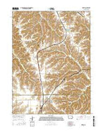 Moravia Iowa Current topographic map, 1:24000 scale, 7.5 X 7.5 Minute, Year 2015 from Iowa Map Store