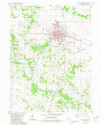 Mount Pleasant Iowa Historical topographic map, 1:24000 scale, 7.5 X 7.5 Minute, Year 1981