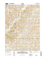 Nevinville Iowa Current topographic map, 1:24000 scale, 7.5 X 7.5 Minute, Year 2015 from Iowa Map Store