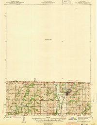 New Market Iowa Historical topographic map, 1:62500 scale, 15 X 15 Minute, Year 1943
