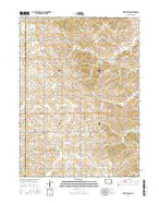 North Branch Iowa Current topographic map, 1:24000 scale, 7.5 X 7.5 Minute, Year 2015 from Iowa Map Store
