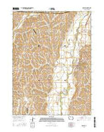 Oakland Iowa Current topographic map, 1:24000 scale, 7.5 X 7.5 Minute, Year 2015 from Iowa Map Store