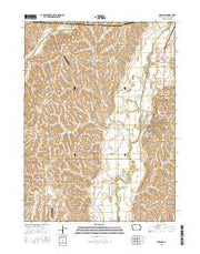 Oakland Iowa Current topographic map, 1:24000 scale, 7.5 X 7.5 Minute, Year 2015 from Iowa Maps Store