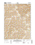 Orient Iowa Current topographic map, 1:24000 scale, 7.5 X 7.5 Minute, Year 2015 from Iowa Map Store