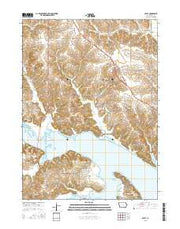 Otley Iowa Current topographic map, 1:24000 scale, 7.5 X 7.5 Minute, Year 2015 from Iowa Maps Store