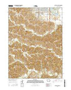 Ottumwa South Iowa Current topographic map, 1:24000 scale, 7.5 X 7.5 Minute, Year 2015 from Iowa Map Store
