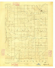 Oxford Iowa Historical topographic map, 1:62500 scale, 15 X 15 Minute, Year 1891