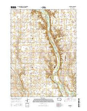 Panther Iowa Current topographic map, 1:24000 scale, 7.5 X 7.5 Minute, Year 2015 from Iowa Maps Store