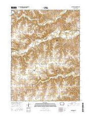 Patterson Iowa Current topographic map, 1:24000 scale, 7.5 X 7.5 Minute, Year 2015 from Iowa Maps Store