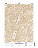 Persia Iowa Current topographic map, 1:24000 scale, 7.5 X 7.5 Minute, Year 2015 from Iowa Map Store
