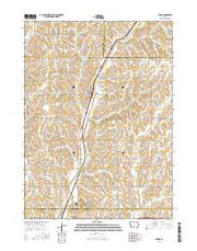 Persia Iowa Current topographic map, 1:24000 scale, 7.5 X 7.5 Minute, Year 2015 from Iowa Maps Store