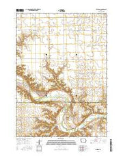 Peterson Iowa Current topographic map, 1:24000 scale, 7.5 X 7.5 Minute, Year 2015 from Iowa Maps Store
