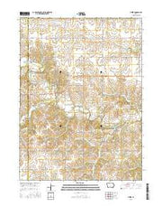 Pitzer Iowa Current topographic map, 1:24000 scale, 7.5 X 7.5 Minute, Year 2015 from Iowa Maps Store