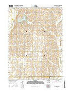 Prairie Rose Lake Iowa Current topographic map, 1:24000 scale, 7.5 X 7.5 Minute, Year 2015 from Iowa Map Store
