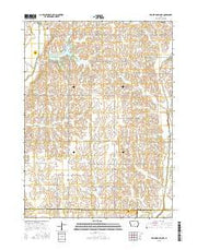 Prairie Rose Lake Iowa Current topographic map, 1:24000 scale, 7.5 X 7.5 Minute, Year 2015 from Iowa Maps Store