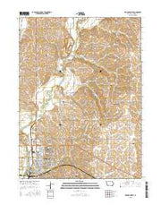 Red Oak North Iowa Current topographic map, 1:24000 scale, 7.5 X 7.5 Minute, Year 2015 from Iowa Maps Store