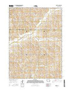 Ricketts Iowa Current topographic map, 1:24000 scale, 7.5 X 7.5 Minute, Year 2015 from Iowa Map Store