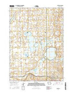 Ruthven Iowa Current topographic map, 1:24000 scale, 7.5 X 7.5 Minute, Year 2015 from Iowa Map Store