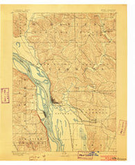 Savanna Illinois Historical topographic map, 1:62500 scale, 15 X 15 Minute, Year 1892