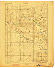 Shellsburg Iowa Historical topographic map, 1:62500 scale, 15 X 15 Minute, Year 1888