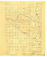 Shellsburg Iowa Historical topographic map, 1:62500 scale, 15 X 15 Minute, Year 1889
