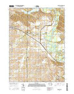 Shellsburg Iowa Current topographic map, 1:24000 scale, 7.5 X 7.5 Minute, Year 2015 from Iowa Map Store