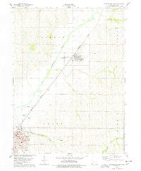 Shenandoah East Iowa Historical topographic map, 1:24000 scale, 7.5 X 7.5 Minute, Year 1978