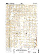 Sibley West Iowa Current topographic map, 1:24000 scale, 7.5 X 7.5 Minute, Year 2015 from Iowa Map Store