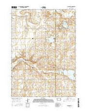 Silver Lake Iowa Current topographic map, 1:24000 scale, 7.5 X 7.5 Minute, Year 2015 from Iowa Maps Store