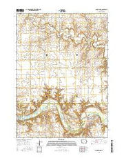 Sioux Rapids Iowa Current topographic map, 1:24000 scale, 7.5 X 7.5 Minute, Year 2015 from Iowa Maps Store