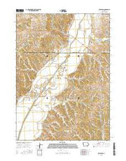 Smithland Iowa Current topographic map, 1:24000 scale, 7.5 X 7.5 Minute, Year 2015 from Iowa Maps Store