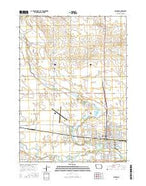 Spencer Iowa Current topographic map, 1:24000 scale, 7.5 X 7.5 Minute, Year 2015 from Iowa Map Store