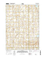 Terril Iowa Current topographic map, 1:24000 scale, 7.5 X 7.5 Minute, Year 2015 from Iowa Map Store