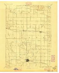 Tipton Iowa Historical topographic map, 1:62500 scale, 15 X 15 Minute, Year 1889