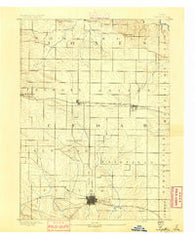 Tipton Iowa Historical topographic map, 1:62500 scale, 15 X 15 Minute, Year 1890