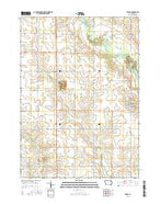 Tripoli Iowa Current topographic map, 1:24000 scale, 7.5 X 7.5 Minute, Year 2015 from Iowa Map Store