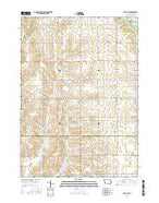 Tripoli NW Iowa Current topographic map, 1:24000 scale, 7.5 X 7.5 Minute, Year 2015 from Iowa Map Store