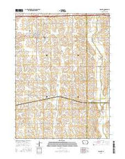 Walnut Iowa Current topographic map, 1:24000 scale, 7.5 X 7.5 Minute, Year 2015 from Iowa Maps Store