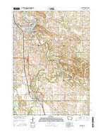 Waverly Iowa Current topographic map, 1:24000 scale, 7.5 X 7.5 Minute, Year 2015 from Iowa Map Store