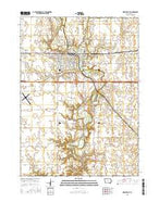 Webster City Iowa Current topographic map, 1:24000 scale, 7.5 X 7.5 Minute, Year 2015 from Iowa Map Store