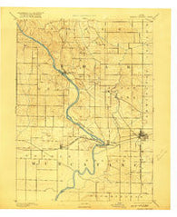Wilton Junction Iowa Historical topographic map, 1:62500 scale, 15 X 15 Minute, Year 1891