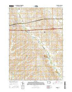 Winthrop Iowa Current topographic map, 1:24000 scale, 7.5 X 7.5 Minute, Year 2015 from Iowa Map Store
