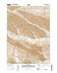 Wyoming West Iowa Current topographic map, 1:24000 scale, 7.5 X 7.5 Minute, Year 2015