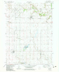 Yale Iowa Historical topographic map, 1:24000 scale, 7.5 X 7.5 Minute, Year 1982